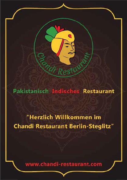 Chandi, indisches Restaurant Berlin-Steglitz, Speisekarte